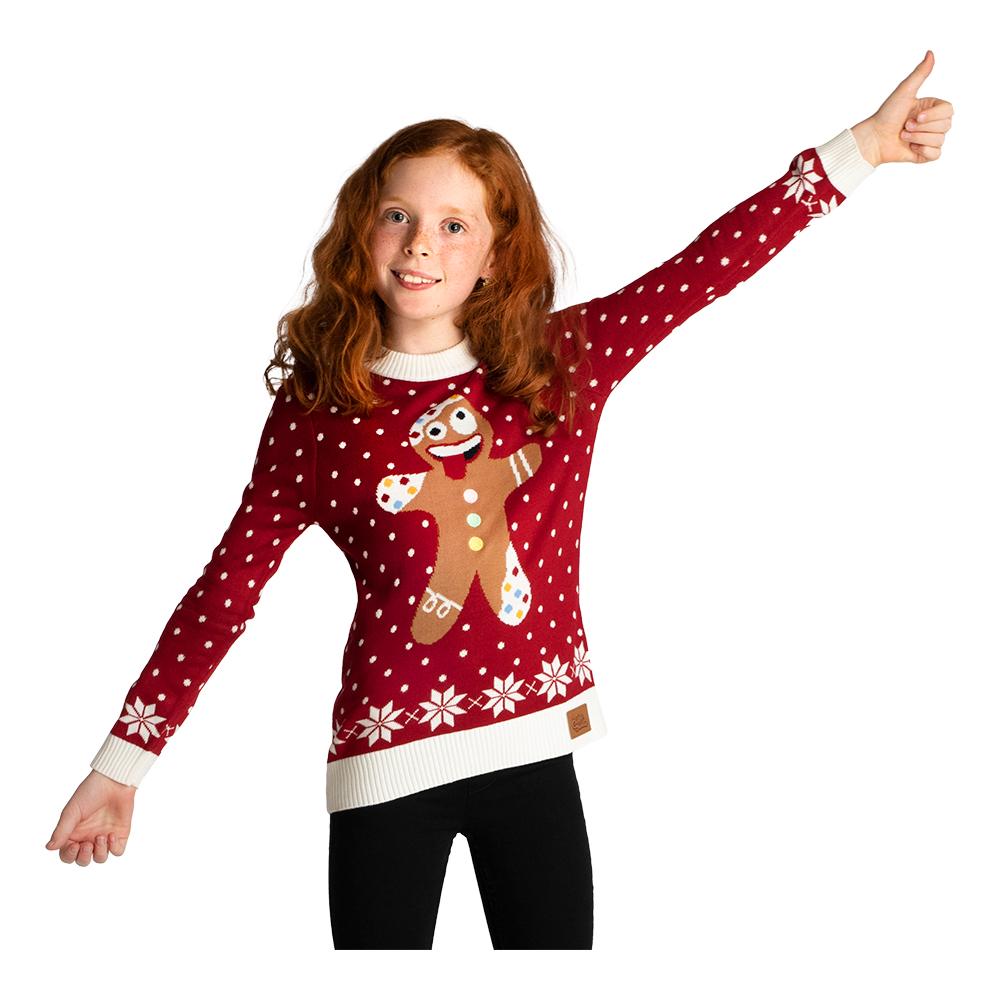 Galen Pepparkaka Jultröja för Barn - Large
