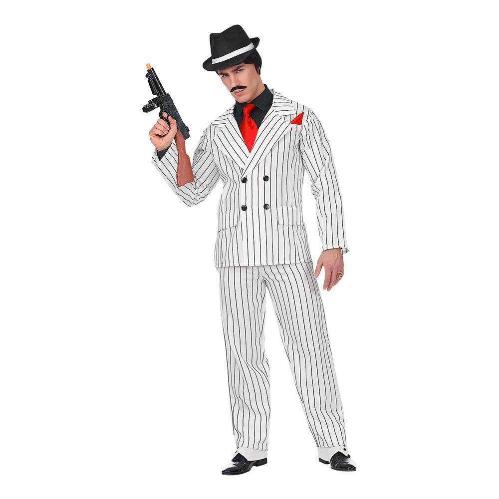 Gangster Vitrandig Maskeraddräkt - Small