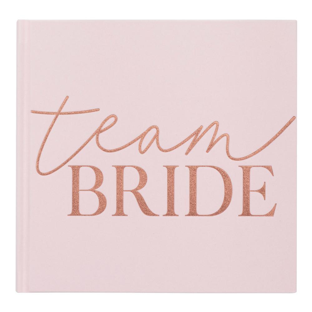 Gästbok Team Bride Rosa/Roséguld