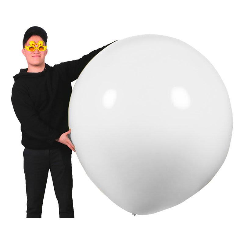 Gigantisk Ballong Vit - 1-pack