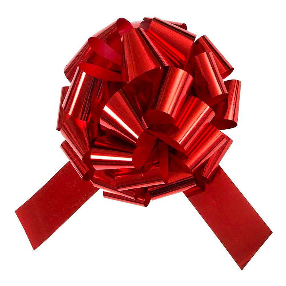 Gigantisk Presentrosett Röd Metallic