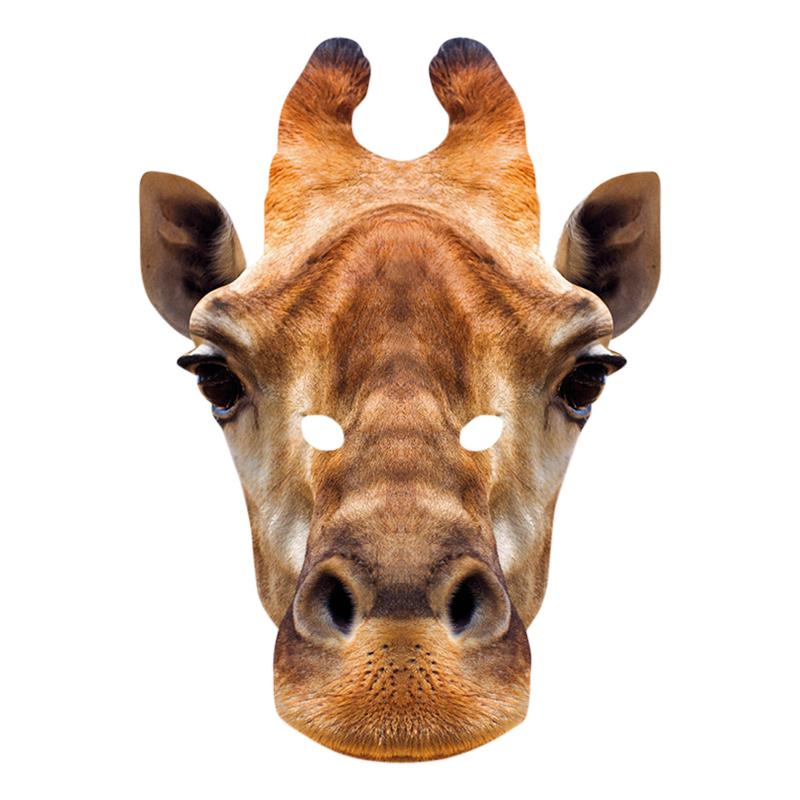 Pappmasker - Giraff Pappmask