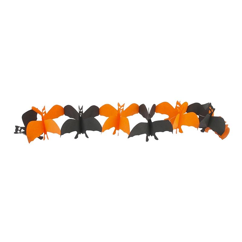 Girlang Fladdermöss Svart/Orange