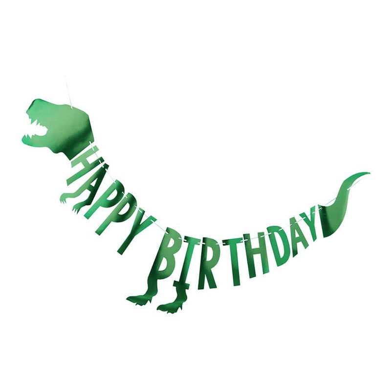 Dinosaurie - Girlang Happy Birthday Dinosaurie