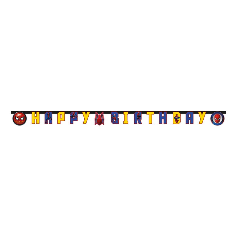 Girlang Happy Birthday Spiderman Flerfärgad