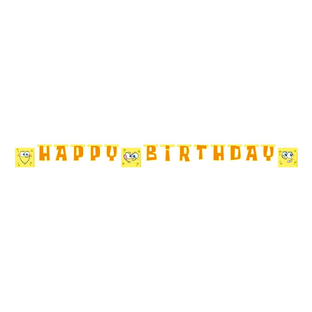 Girlang Happy Birthday Svampbob Fyrkant