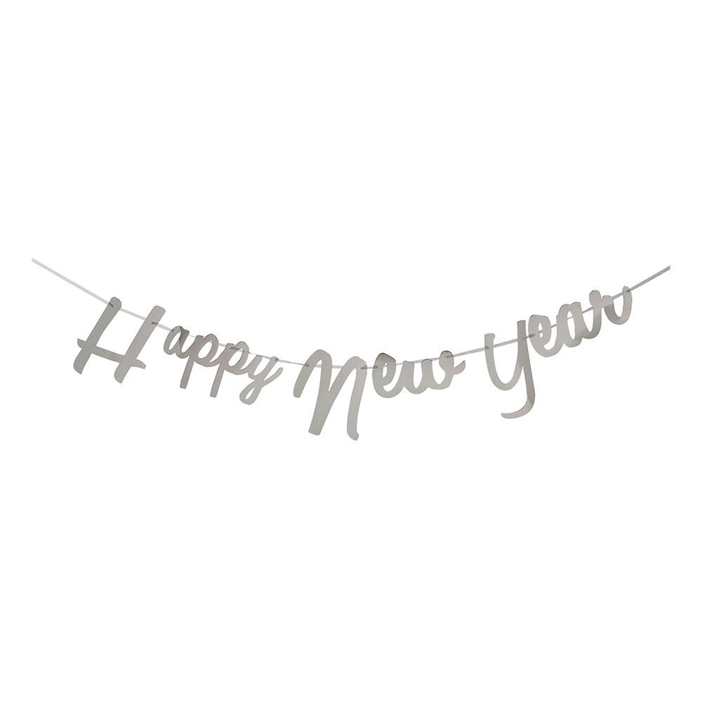 Girlang Happy New Year Silver Metallic