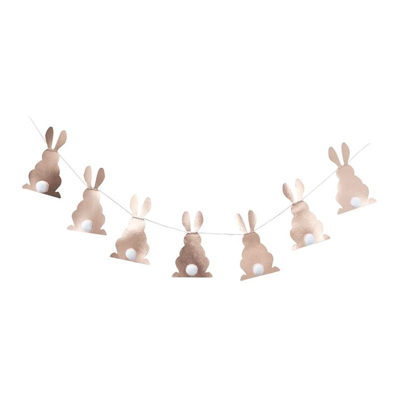 Kanin-produkter - Girlang Kaniner Roséguld Metallic