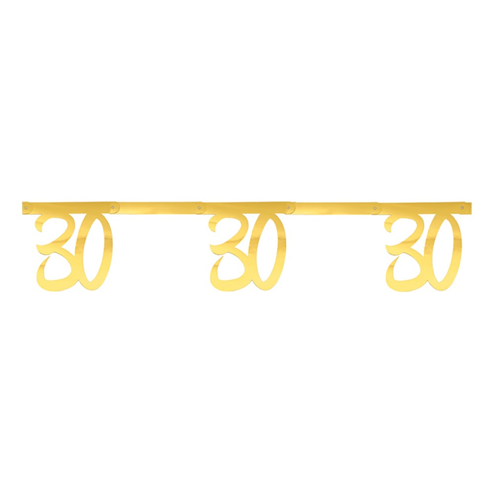 Girlang Siffra Guld Metallic - Siffra 30