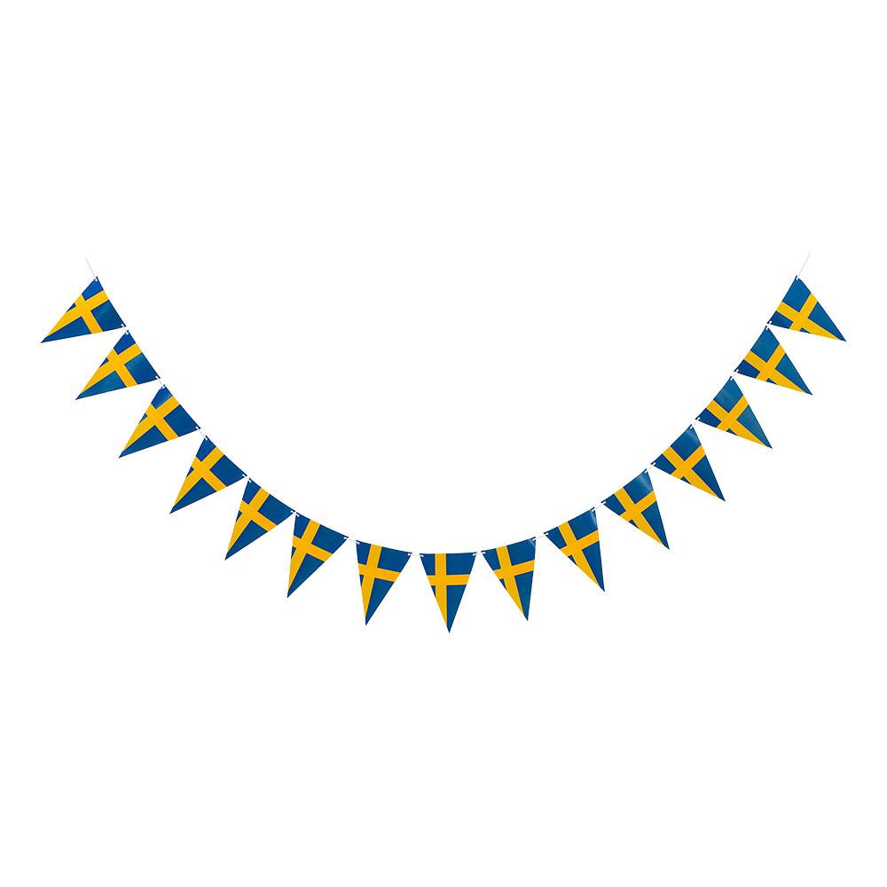 Vimpelgirlang Sverigeflaggor
