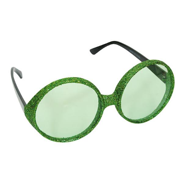 Glasögon Gröna Glitter