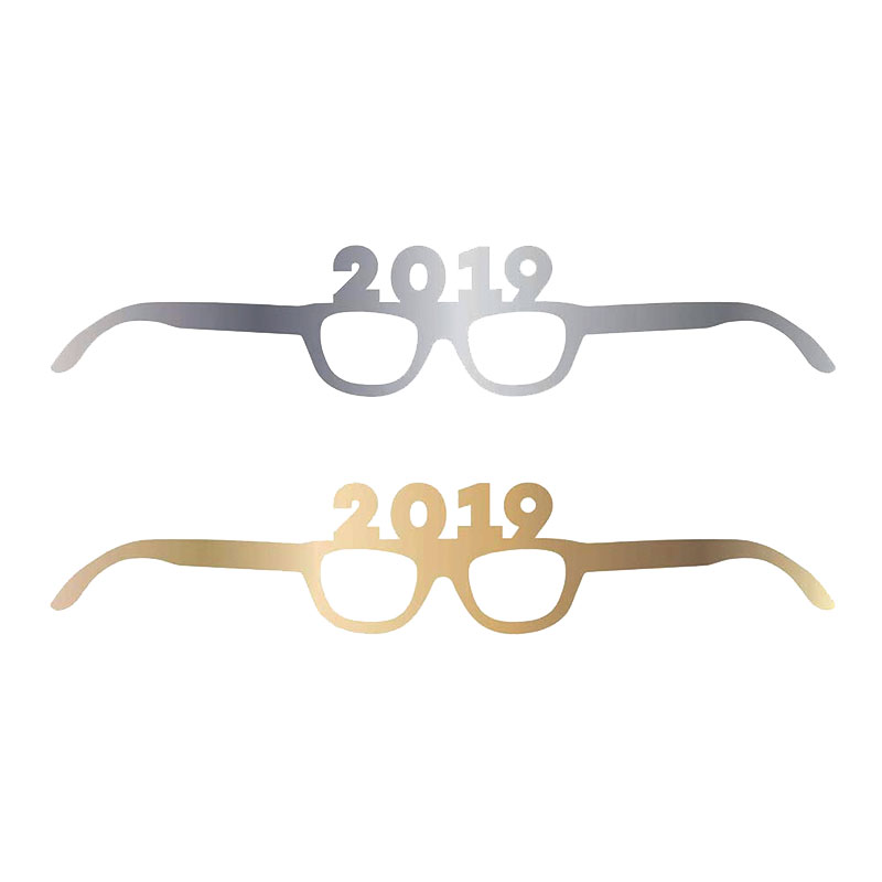 Pappersglasögon 2019 Guld/Silver - 4-pack