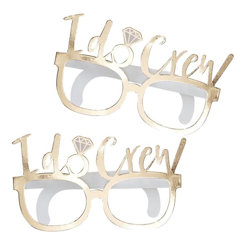 Glasögon i Papp I do Crew Guld - 8-pack