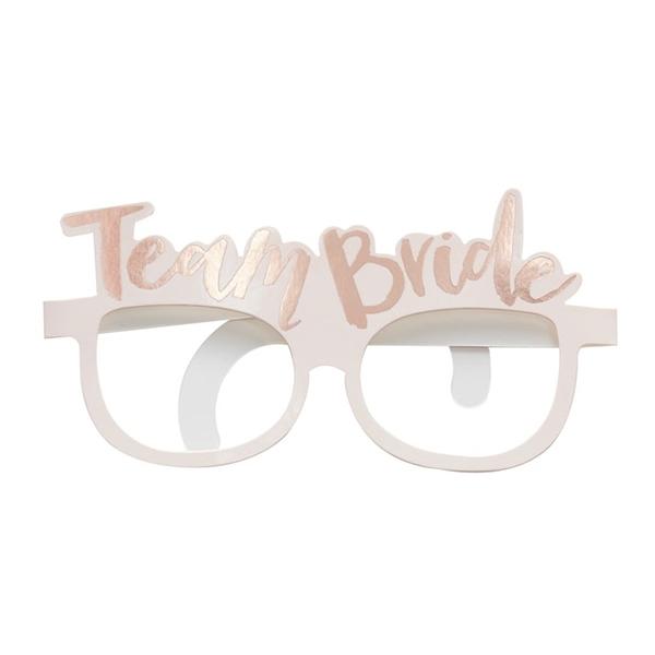 Glasögon i Papp Team Bride Roséguld - 8-pack