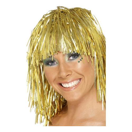 Glitterperuk Guld - One size