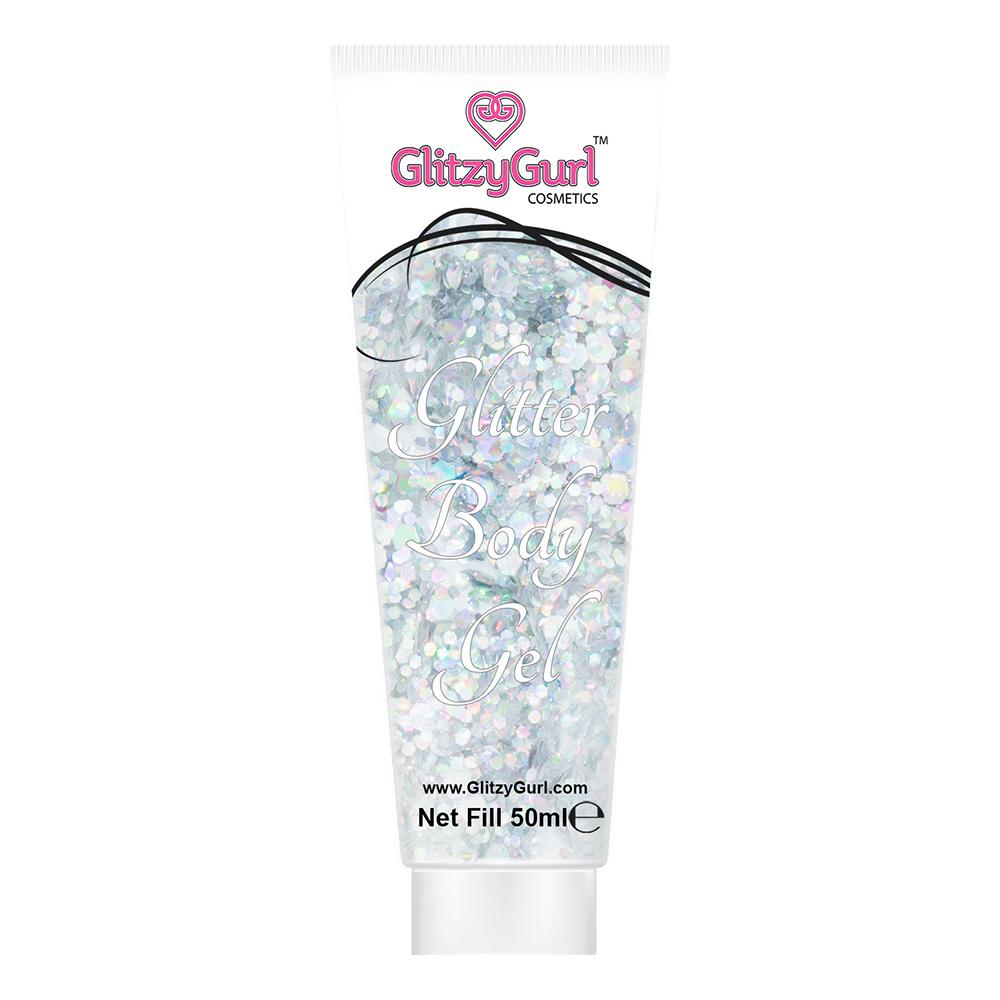 GlitzyGurl Glitter Kroppsgel 50 ml - Silver Storm