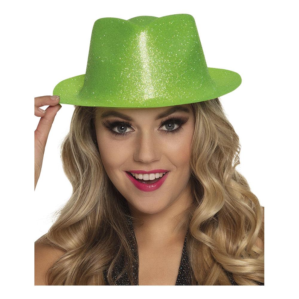 Gnistrande Neongrön Hatt - One size