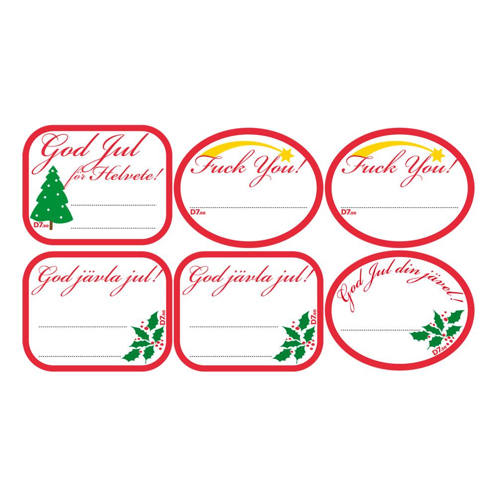 God Jävla Jul Etiketter - 6-pack