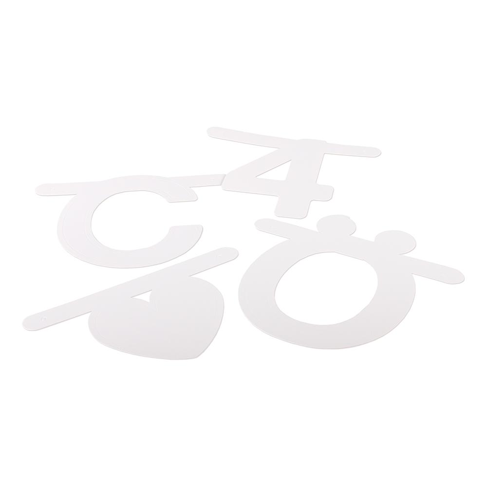 Gör-Det-Själv XL Girlang - Vit