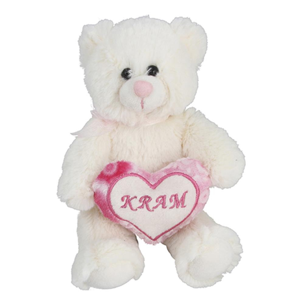 Gosedjur Björn med Hjärta - 15 cm