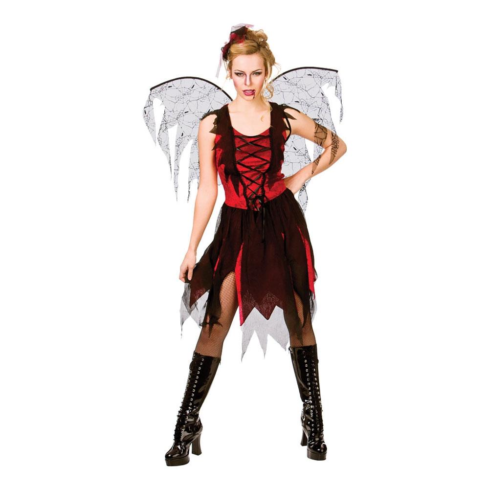 Gotisk Vampyrfé Maskeraddräkt - Large