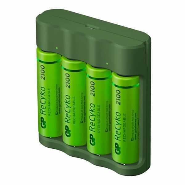 GP ReCyko Everyday Batteriladdare - AA-batterier