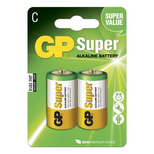 GP Super Alkaline Batterier - 2-pack LR14