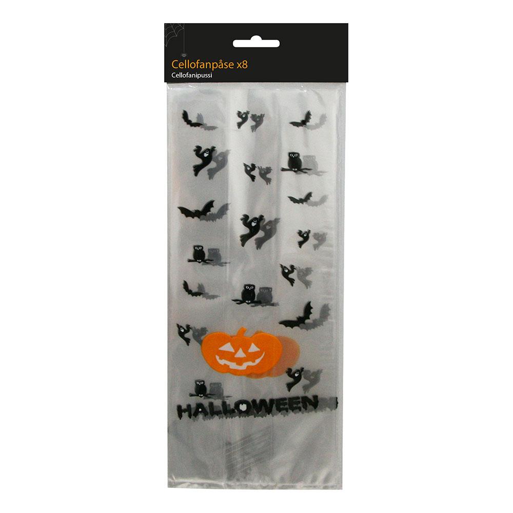Halloween Cellofanpåse - 8-pack