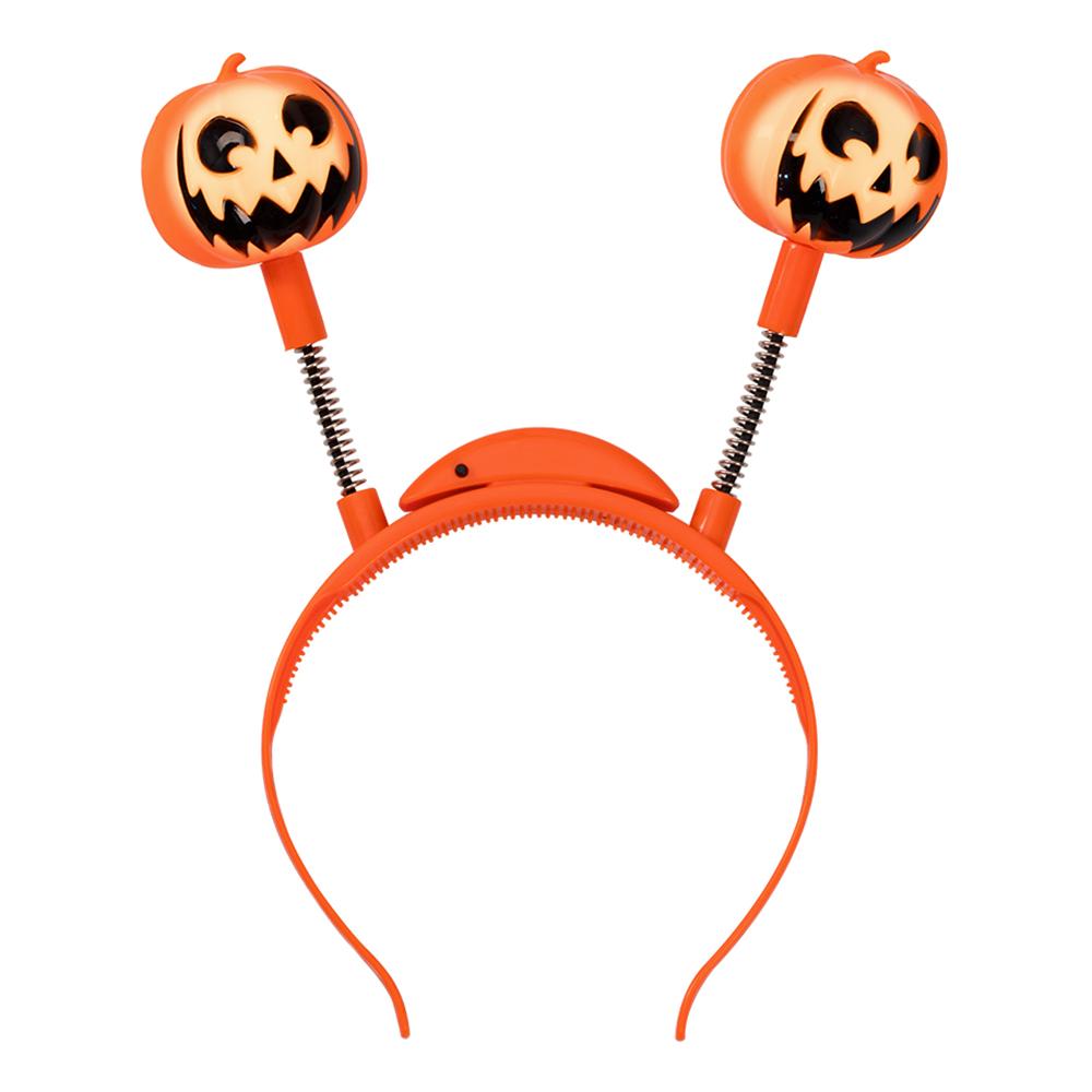 Halloween Pannband med Pumpor LED