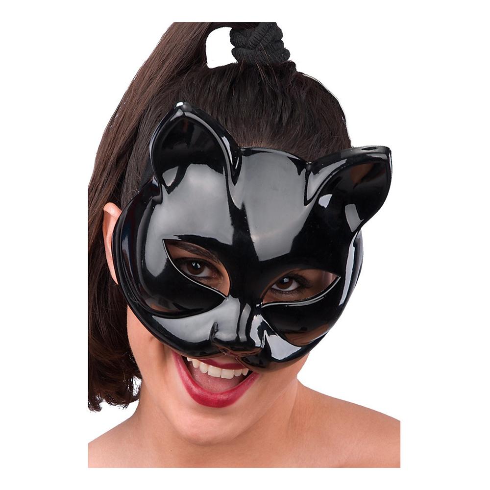 Katt - Halvmask Katt Svart - One size