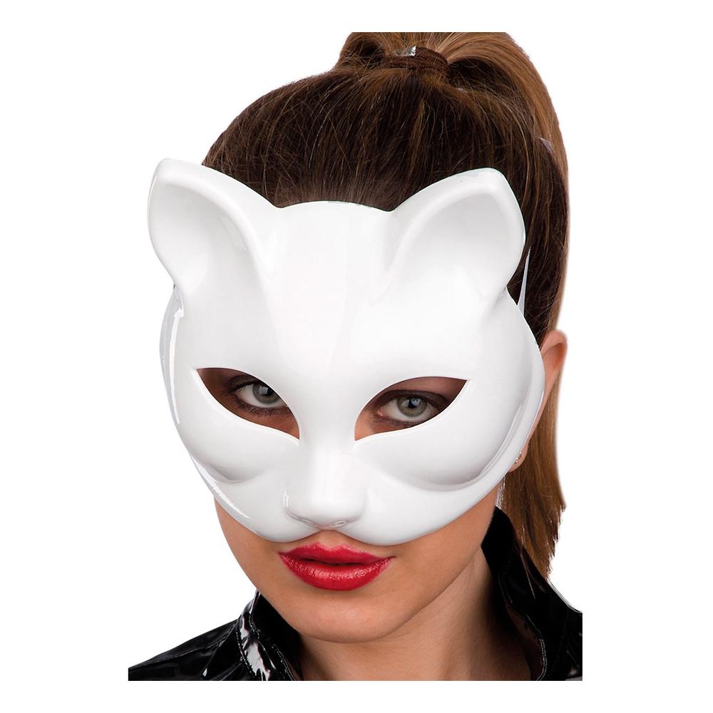 Katt - Halvmask Katt Vit - One size