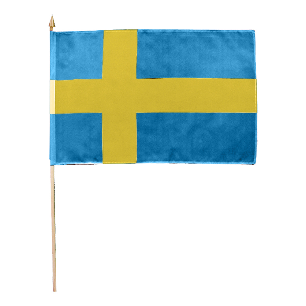 Handflagga Sverige - 1-pack