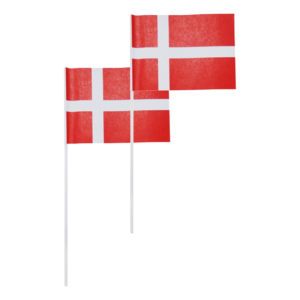 Handflaggor Danmark - Liten   Hem//Teman//Färger//Röd   Partyoutlet
