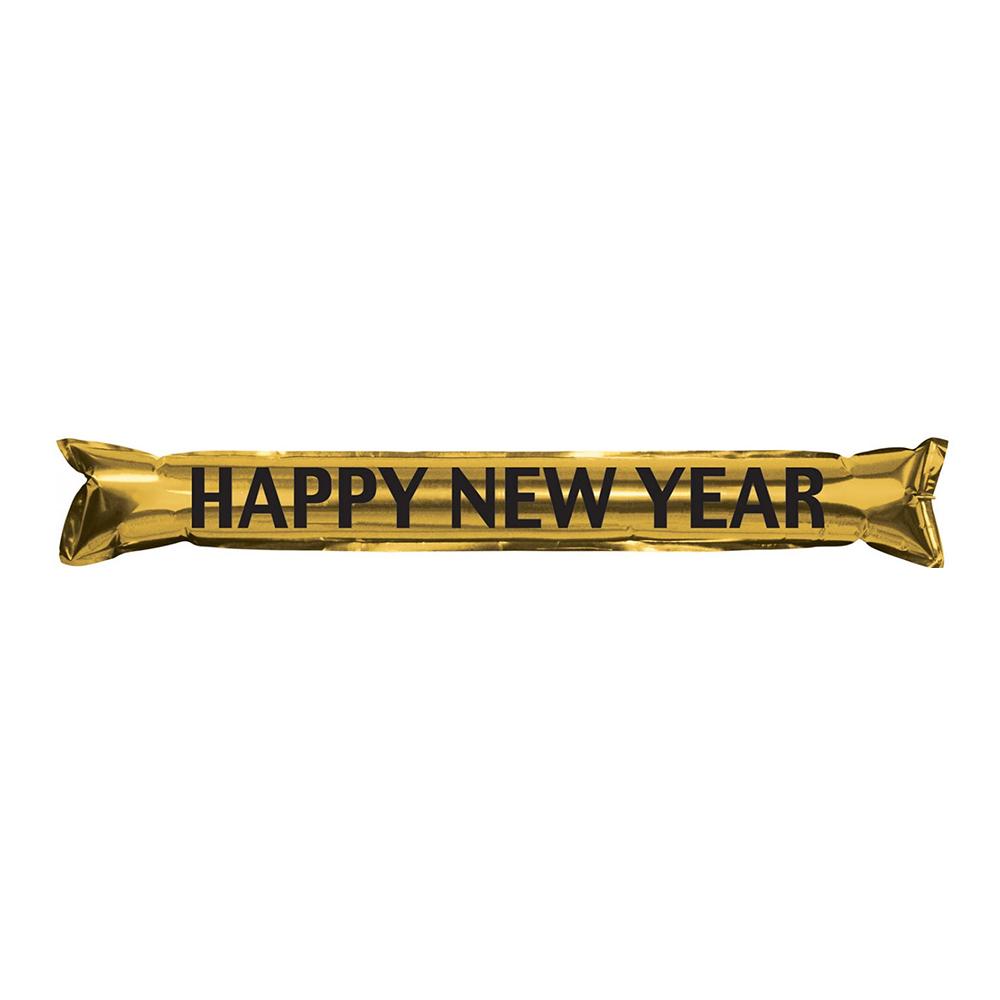 Handklappor Happy New Year Guld/Metallic - 2-pack