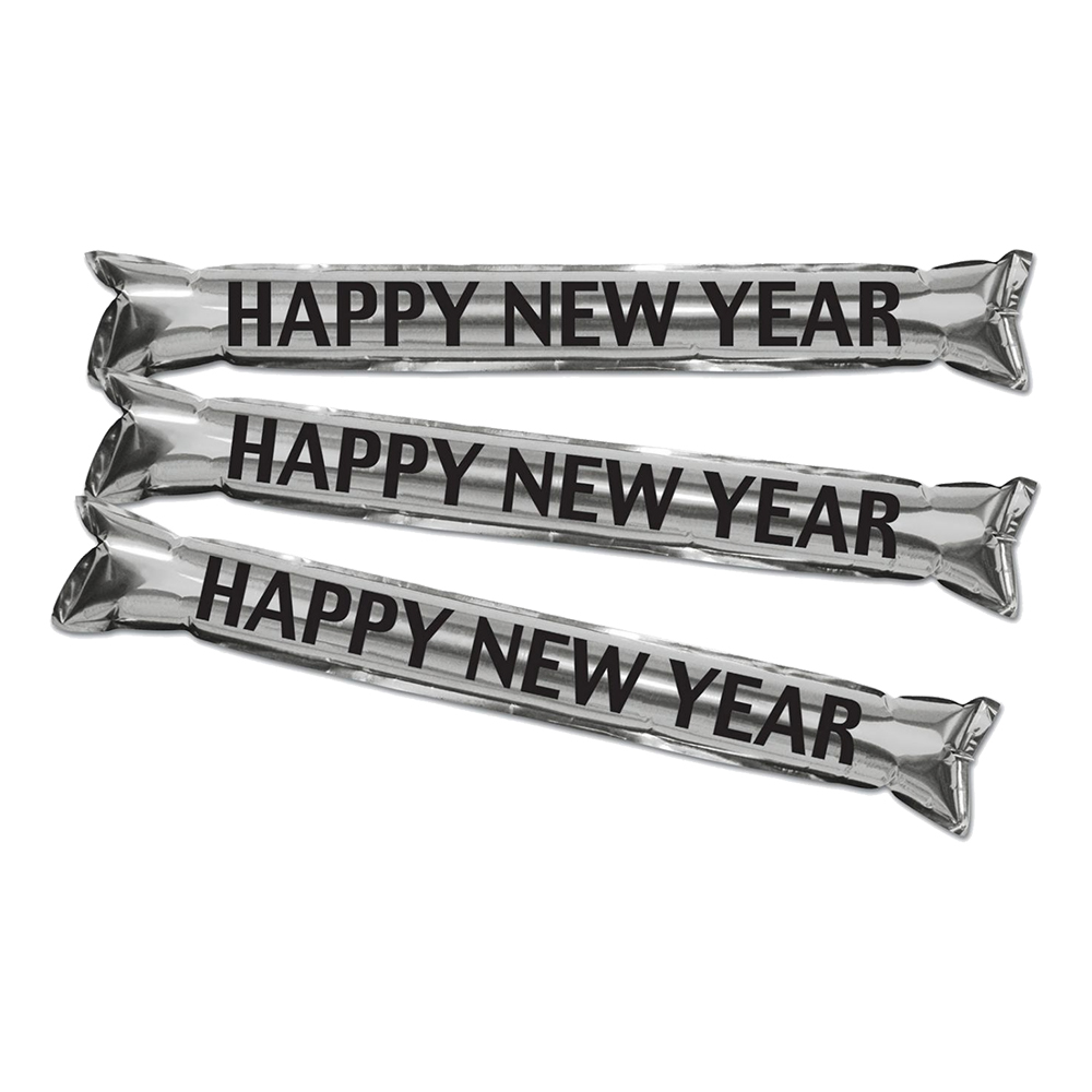 Handklappor Happy New Year Silver/Metallic