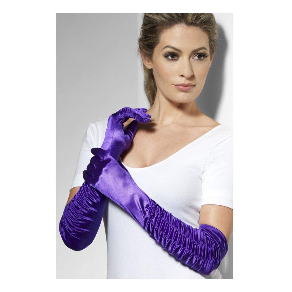 Handskar Långa Lila - One size