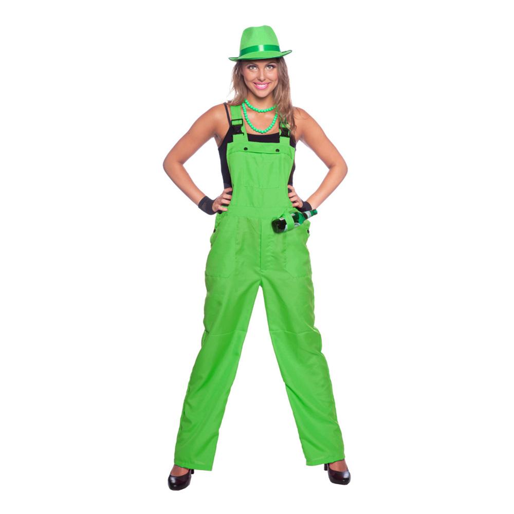 Hängselbyxor Neongröna