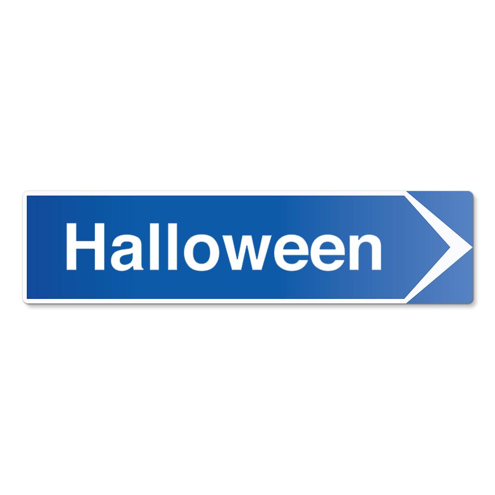 Hänvisningsskylt Halloween