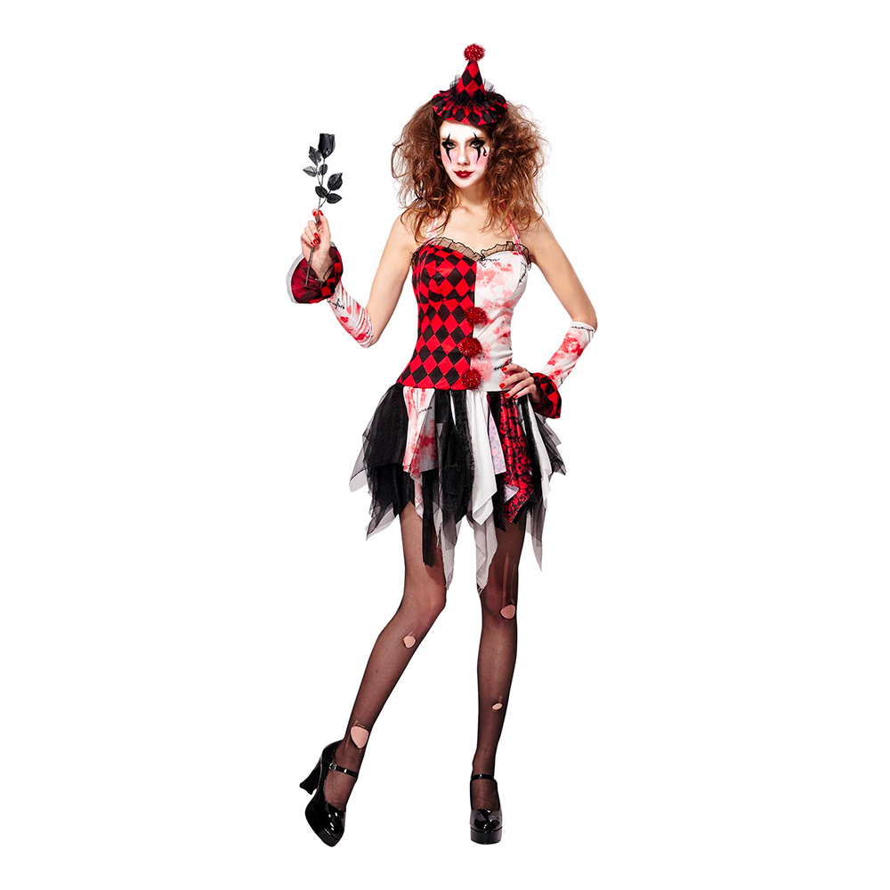 Harlequin Halloween Maskeraddräkt - Small