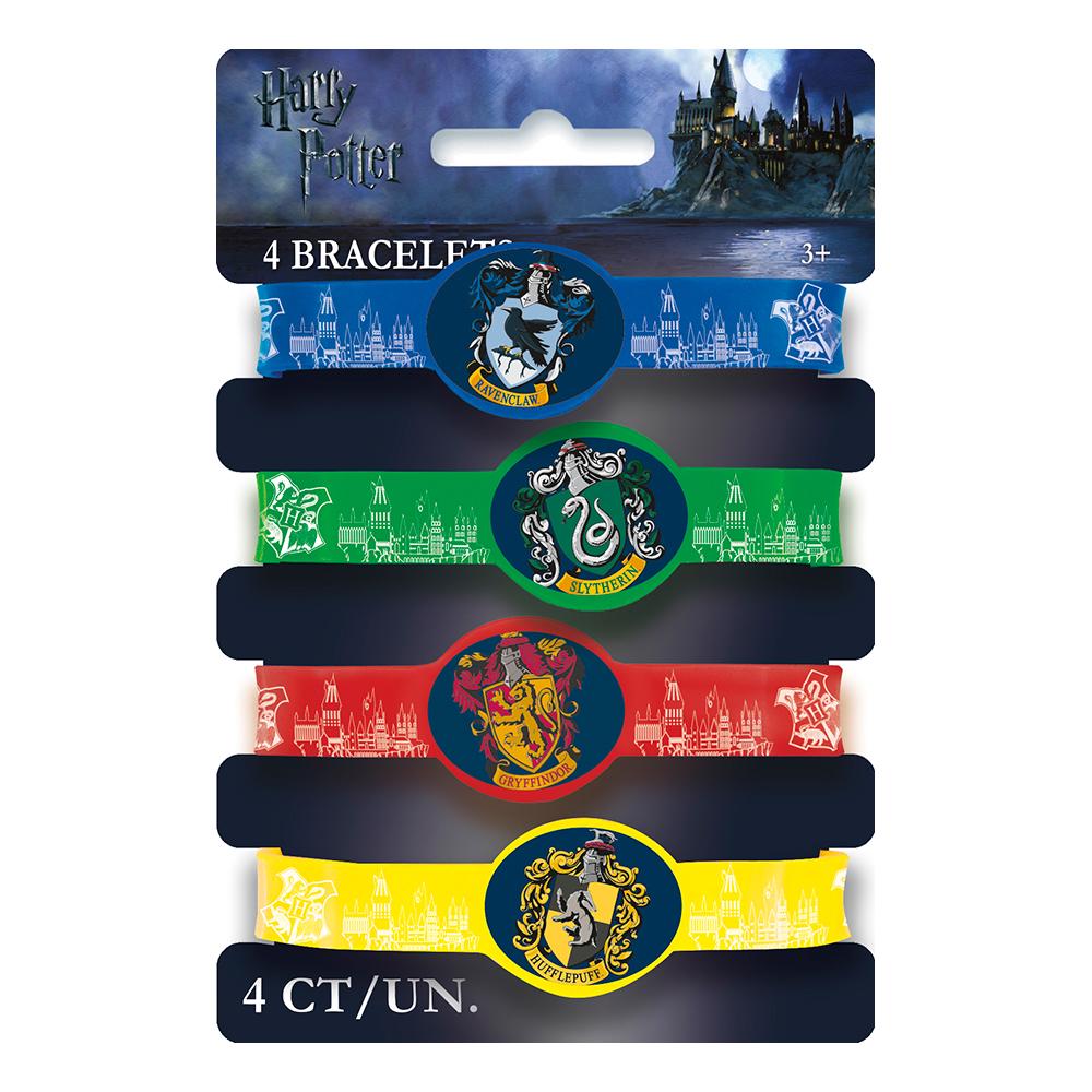 Harry Potter Silikonarmband - 4-pack
