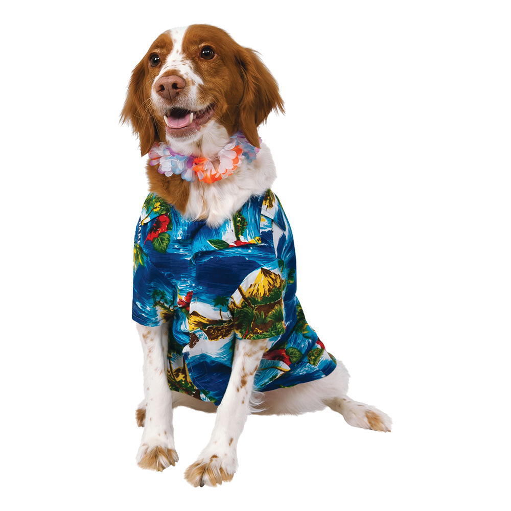 Hawaii Hund Maskeraddräkt - Small