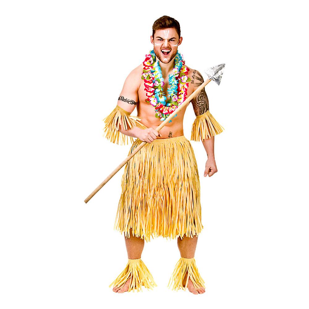 Hawaii Krigare Set Maskeraddräkt - One size