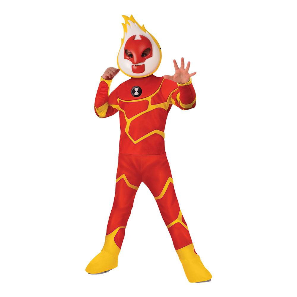 Heatblast Barn Maskeraddräkt - Medium