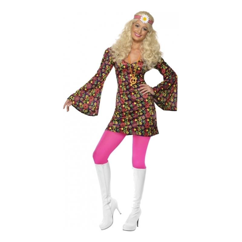 70-tals Hippieklänning Maskeraddräkt - Large