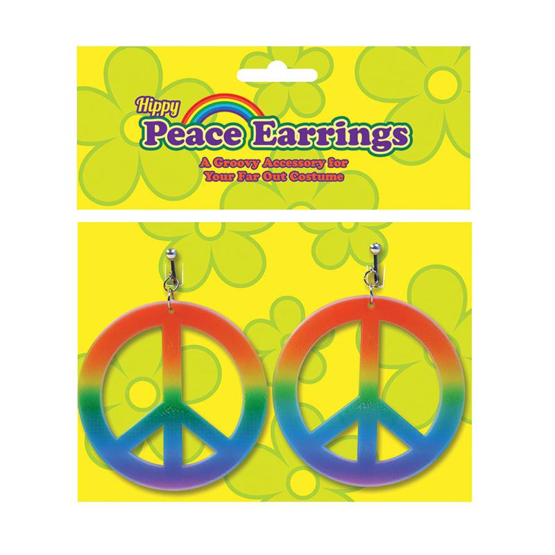 Hippie Peace Örhängen - 2-pack