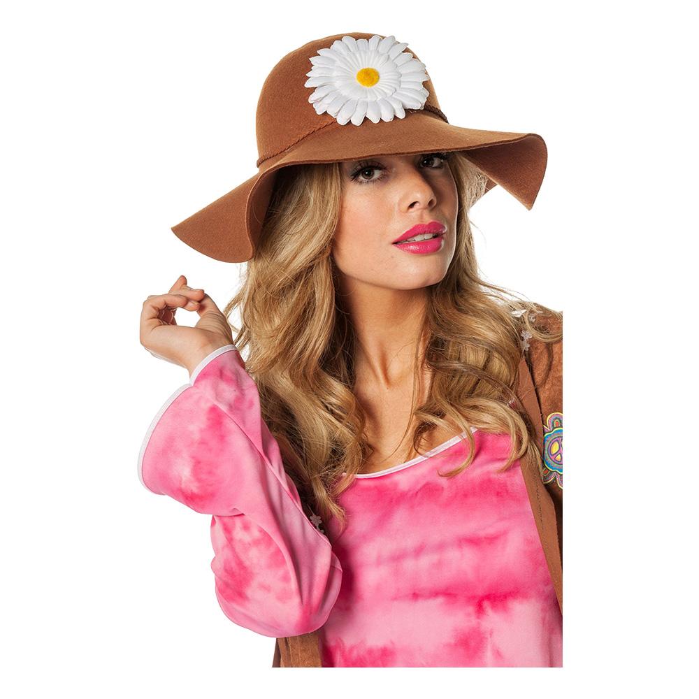 Hippiehatt med Blommor - One size