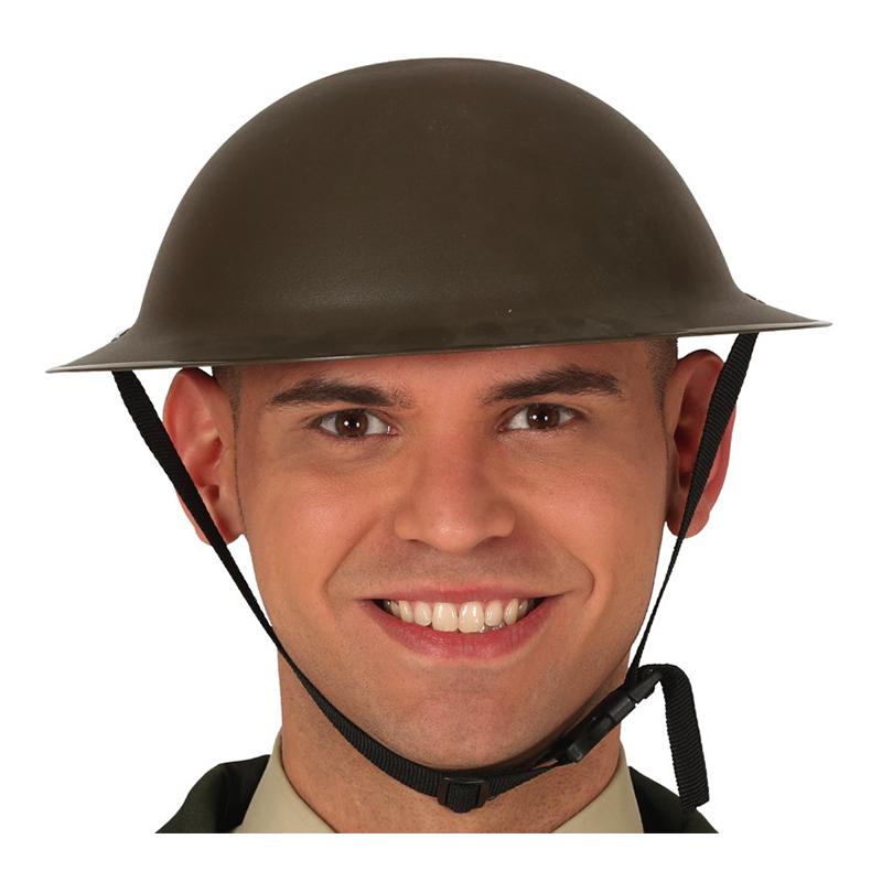Hjälm Engelsk Soldat Grön - One size