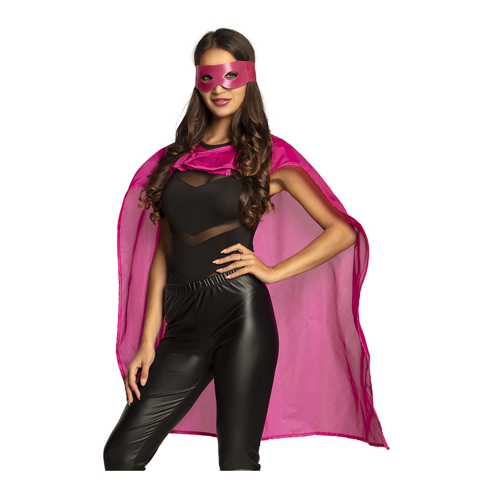 Rosa Superhjälte Kit Maskeraddräkt