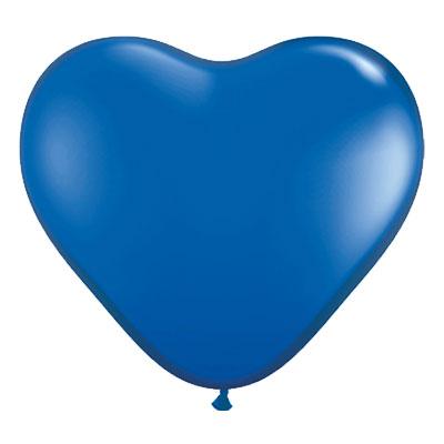 Hjärtballonger Blåa - 10-pack