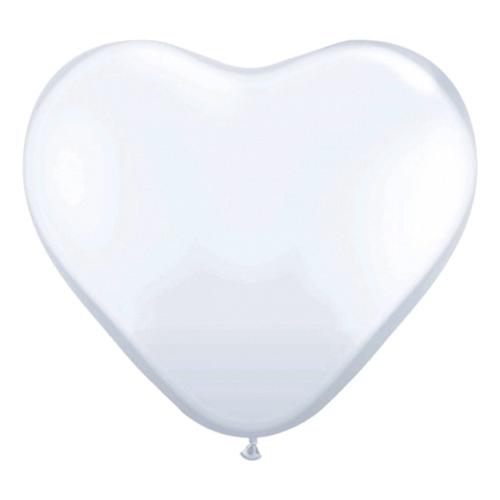 Hjärtballonger - Hjärtballonger Vita - 10-pack